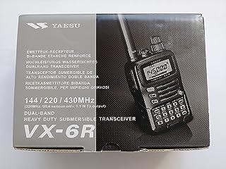 Tri-Band Yaesu VX-6R Submersible Amateur Ham Radio Transceiver (144/222/440)