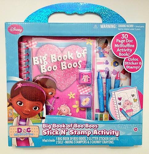 entrega rápida Doc McStuffins Big Big Big Book of Boo Boos Stick N' Stamp Activity  en linea