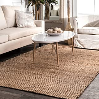 nuLOOM Hailey Handwoven Jute Rug, 5' x 8', Natural
