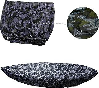 MAYMII Camouflage Kayak Cover 8.8-9.9ft Kayak/Fishing Boat/Boat / Canoe, Universal Use,Professional UV Block, Waterproof, Sunblock, Storage, Dust Cover Shield Protector