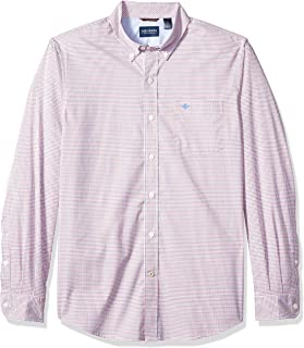 Dockers Long Sleeve Button Front Comfort Flex Shirt Camisa Abotonada para Hombre