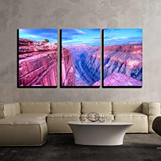 wall26 - 3 Piece Canvas Wall Art - Sunset at Toroweap Point, in Grand Canyon National Park. - Modern Home Art Stretched an...