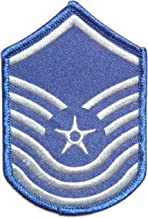 USAF Air Force Senior Master Sergeant Army Military Pilot Logo Tab Jacket Uniform Patch Sew Iron on Embroidered Sign Badge Costume