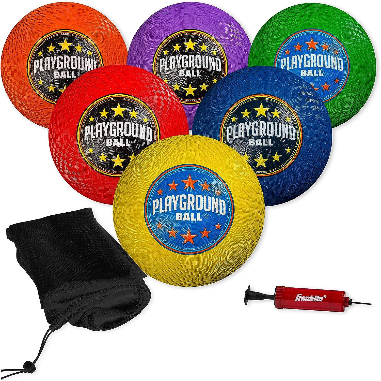 Franklin Sports Playground Balls Max 57% OFF - Playgrou Kickballs Very popular Rubber and