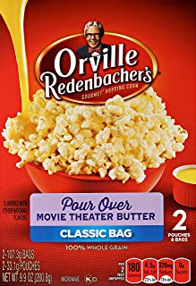 orville redenbacher's Pour Over Movie Theater Butter Microwave Popcorn, 9.9 oz