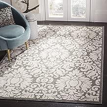 Safavieh Amherst Collection AMT427R Dark Grey and Beige Indoor/ Outdoor Area Rug (2'6