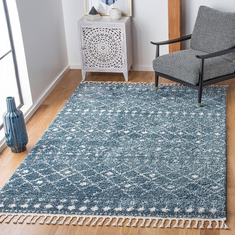 SAFAVIEH Kansas City Mall Berber Fringe Shag Non-Shed Collection Bargain sale BFG519M Moroccan