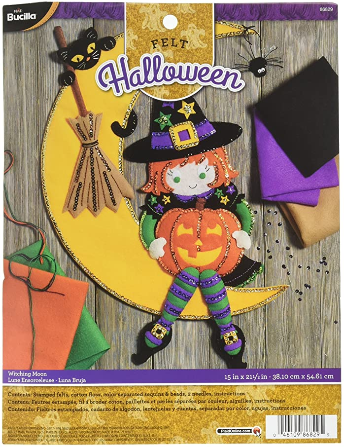 Bucilla 86829 Witching Moon Wallhanging Kit