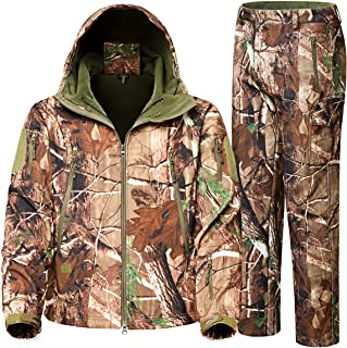 ZGCAMRI Men's Camouflage Hide Hunting Clothes, Waterproof...
