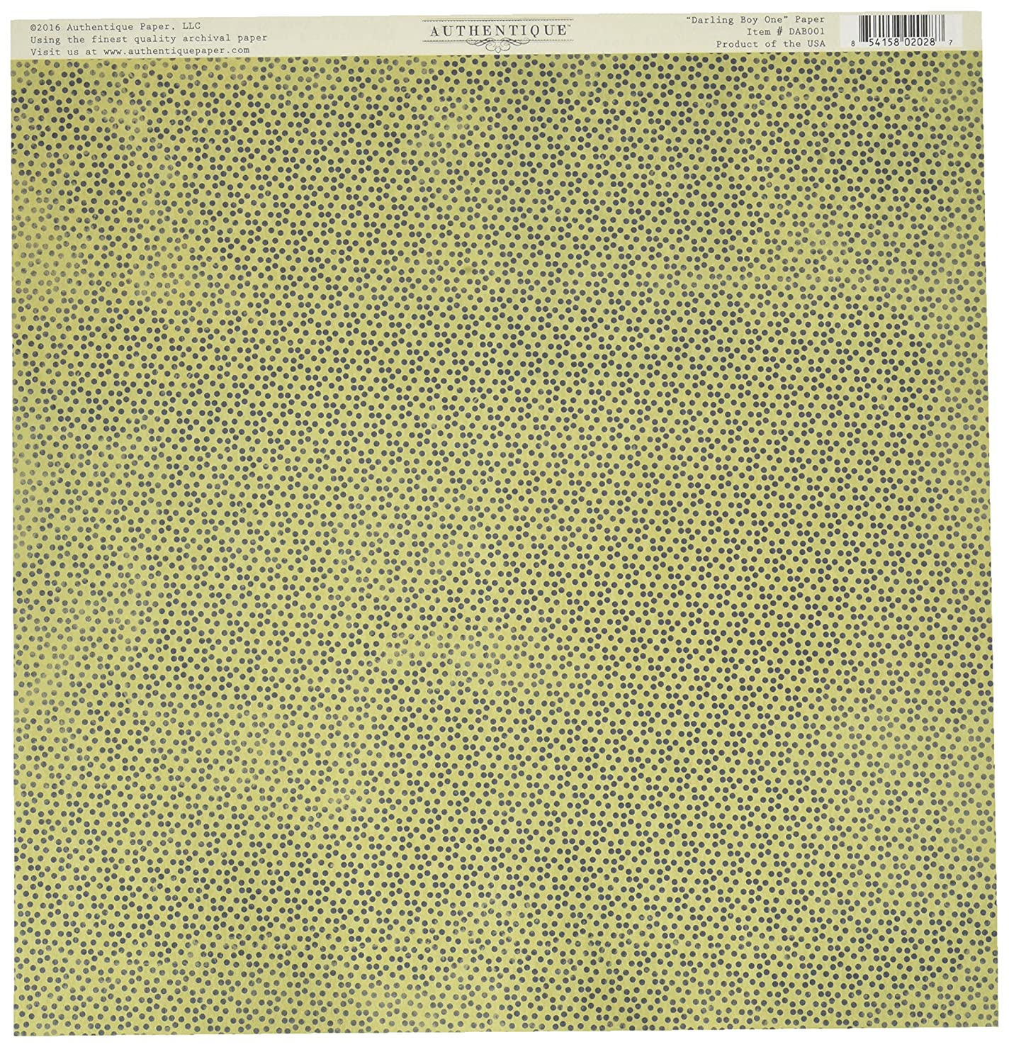 Authentique Paper DAB001 18 Sheet No.1 Mini Dot Cut-Apart Darling Boy Double-Sided Cardstock, 12