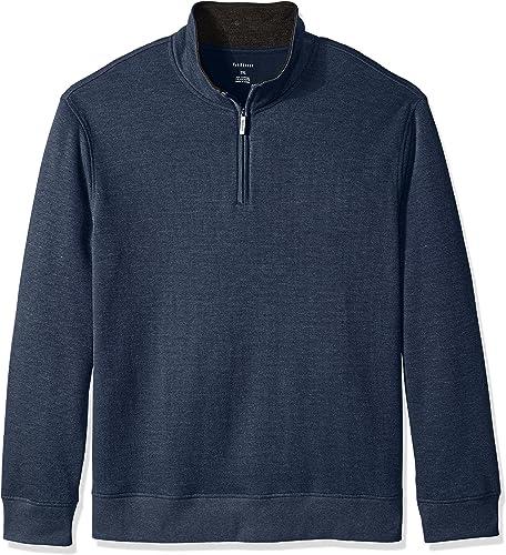 Van Heusen Hommes's Big and Tall manche longue Spectator Solid 1 4 Zip Shirt, bleu noir Iris, grand Tall