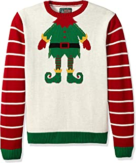 Ugly Christmas Sweater Men's Elf Head