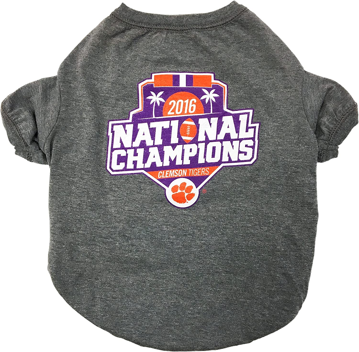 Pets First NCAA Clemson Tigers 2017 College Football National Championship Tee Shirt, XSmall