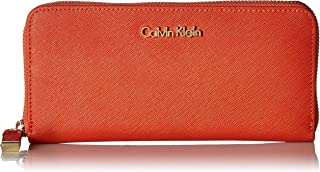 Calvin Klein Women's Saffiano Leather Zip-around Wallet