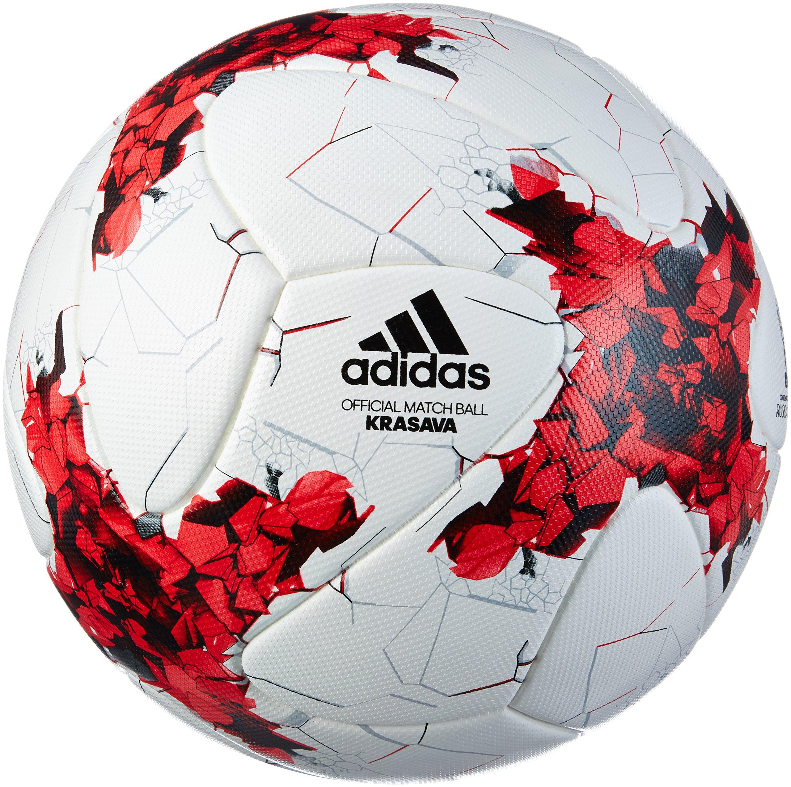 adidas Confed Cup Omb Balón de Fútbol, Hombre, Blanco (Blanco/Rojo ...