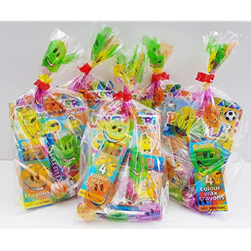 15 X Childrens Unisex Pre Filled Ready Made Party Bags With Favours And Sweets For Boys
