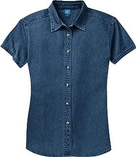 Port & Company Women's Short Sleeve Value Denim Shirt