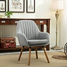 Roundhill Furniture AC151GY Tuchico Contemporary Fabric Accent Chair, Gray
