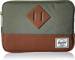 Herschel Supply Co. Heritage Sleeve for Ipad Mini, Deep Lichen Green/Tan Synthetic Leather