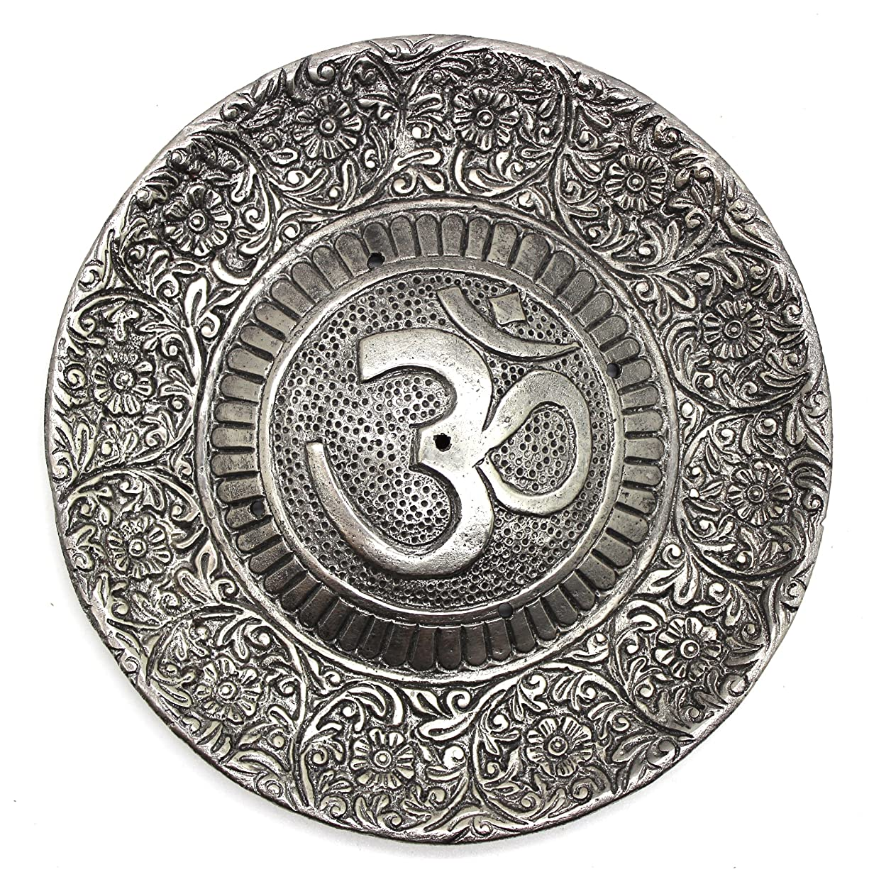 感覚カールフィットGovinda - Tibetan Incense Burner - Larger OM Symbol - 11cm Diameter