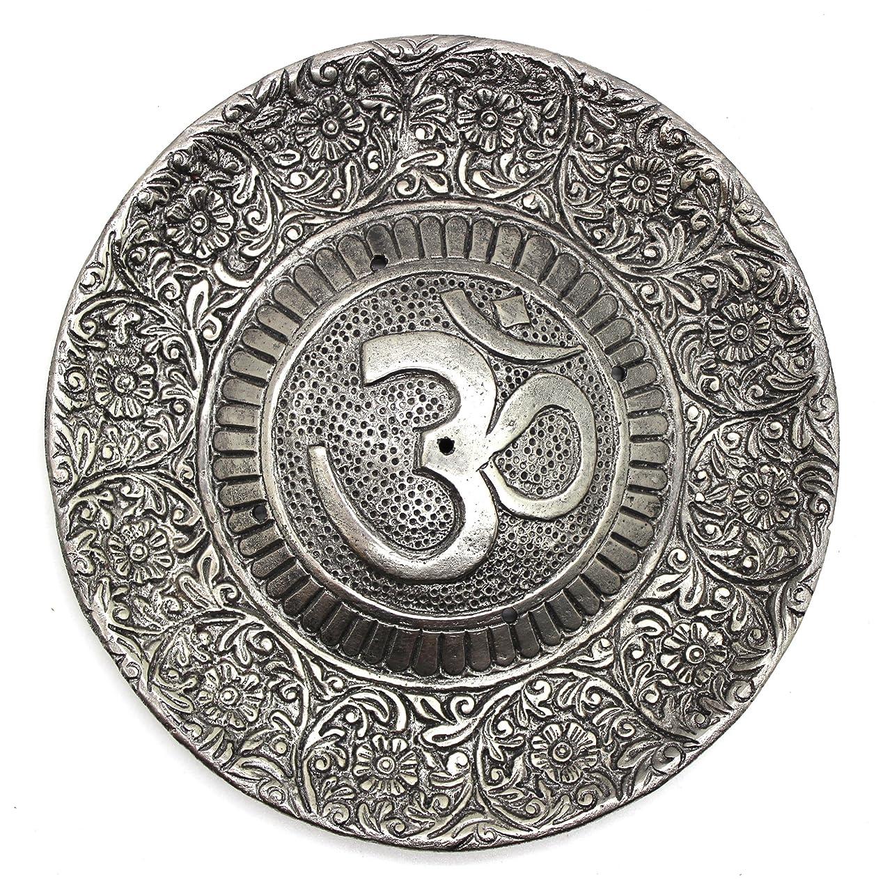 マウントテストバケットGovinda - Tibetan Incense Burner - Larger OM Symbol - 11cm Diameter