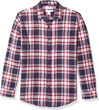 blue and red flannel shirt mens