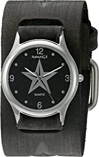 Nemesis Women's 355FSTK Vintage Star Series Analog Display Japanese Quartz Black Watch