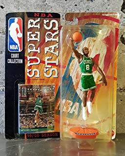Starting Lineup ANTOINE WALKER / BOSTON CELTICS 99/00 Season NBA SUPER STARS Super Detailed Figure, Display Base & Exclusive Upper Deck Collector Trading Card