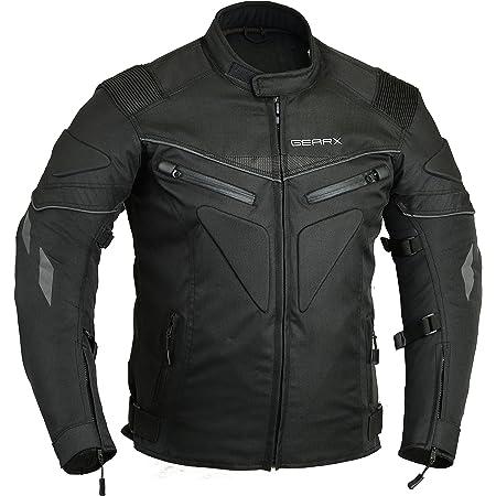 Chaqueta de moto acolchada e impermeable transpirable blindada. negro negro large