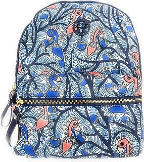 Tory Burch Tilda Printed Zip Backpack Blue Something Wild