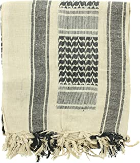 ARMYU Military Shemagh Arab Tactical Desert Keffiyeh Scarf, 100% Cotton Head Wrap Neck Cover