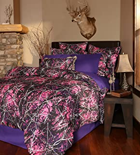 Carstens, Inc Carstens Muddy Girl Camo 4 Piece Comforter Bedding Set, King