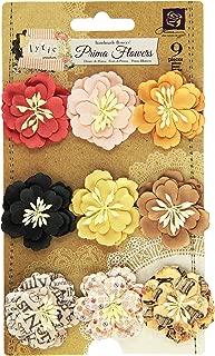 Prima Marketing Lyric Paper Flowers, 1.5-Inch 9-Pack-Daisies