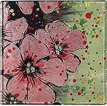 Angelstar 19476 Cherry Blossom Coasters - Set of 4, 4, Multicolor