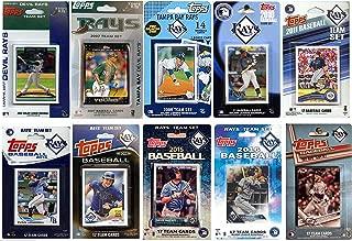 C&I 收藏版 MLB 坦帕湾光芒队 男式 10 种不同的*交易卡队套装,白色