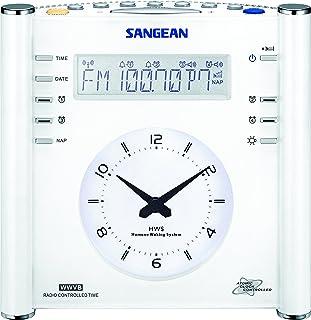 Sangean RCR-3 AM/FM Atomic Digital/Analog Clock Radio (White), One Size