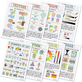 Elements of Art Classroom Variety Posters, Set of 8, 12 x 18 inches