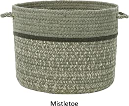 product image for Rhody Rug Seaport Wool Blend Storage Baskets. Mistletoe 14 x 14 x 10 inches