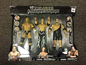 WWE Jakks Pacific Deluxe Aggression Triple H, Shawn Michaels, Big Show, Action Figure Set