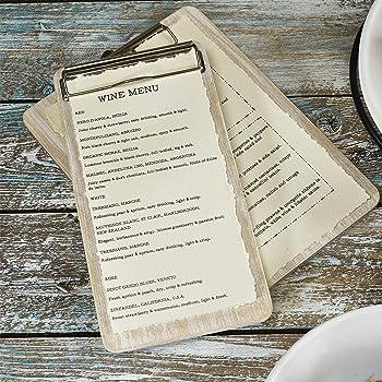 16x23 Porta men/ù in similpelle BIANCO a 2 ante e 8 tasche per ristoranti e pub
