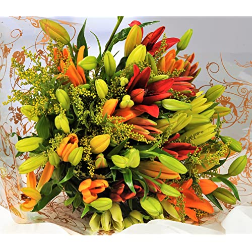 Asiatic Lily Fresh Flower Bouquet 1hr Delivery Timeslot Send Flowers Uk With Free Next