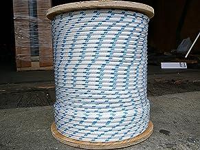 "Novabraid XLE Double Braid Dacron Sheet Halyard Line 5/16"" x 100` White/Blue"