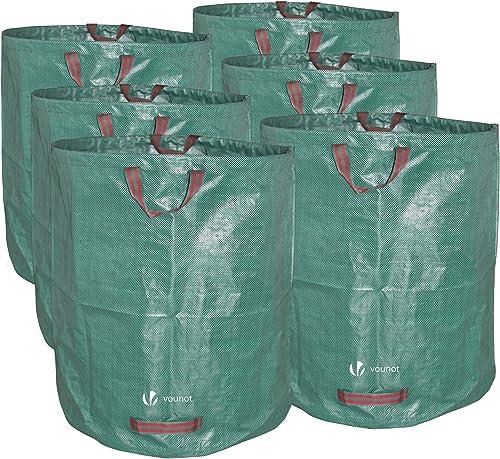 Sacs de jardin XXL Lot de 6 sac jardin 272L Sacs de déchets jardin résistants Sac à déchets de Jardin Sac déchet en P...