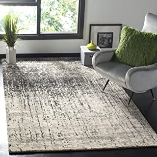 Safavieh Retro Collection Modern Abstract Black and Light Grey Area Rug (8' x 10')