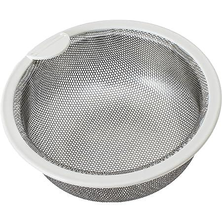Belca 排水口 ゴミ受け 流し用ステンレス浅型ゴミカゴ 135タイプ 直径13.5×高さ5.8cm ステンレス/ホワイト 日本製 SP-202T