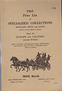 1965 Price List of Specialized Collections, Singles, Sets and Lots - Part II, P21 (Net Price Stamp Catalog) (Fritz Billig, 1965)