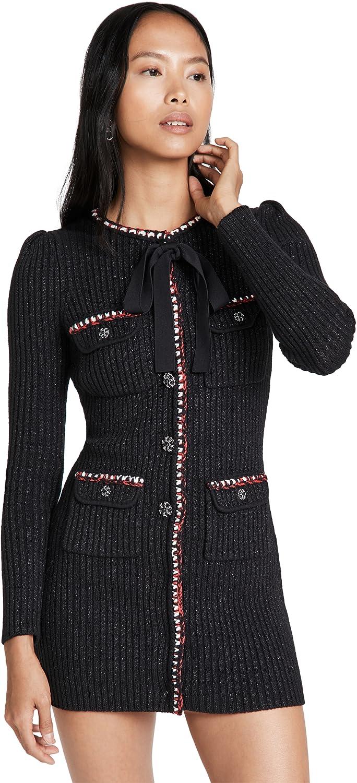 Self Portrait Austin Free shipping / New Mall Women's Black Trim Dress Contrast Mini