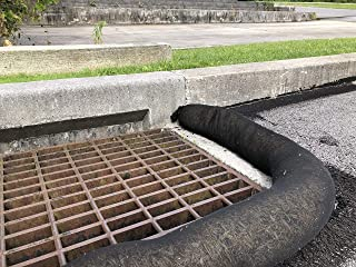 Standard Storm Drain Filter Sock by New Pig - Keep Sediment and Debris Out of Curb inlets and Storm drains, Black 5' L