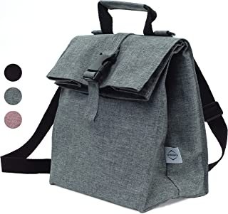 Thermal Insulated Medium Lunch Box Reusable Lunch Bag Lunch Boxes for School, Work, Outdoor Activities Cooler Bag, Shoulder Strap Adjustable, Lunch Bags for Men & Lunch Bags for Women by Wishbax