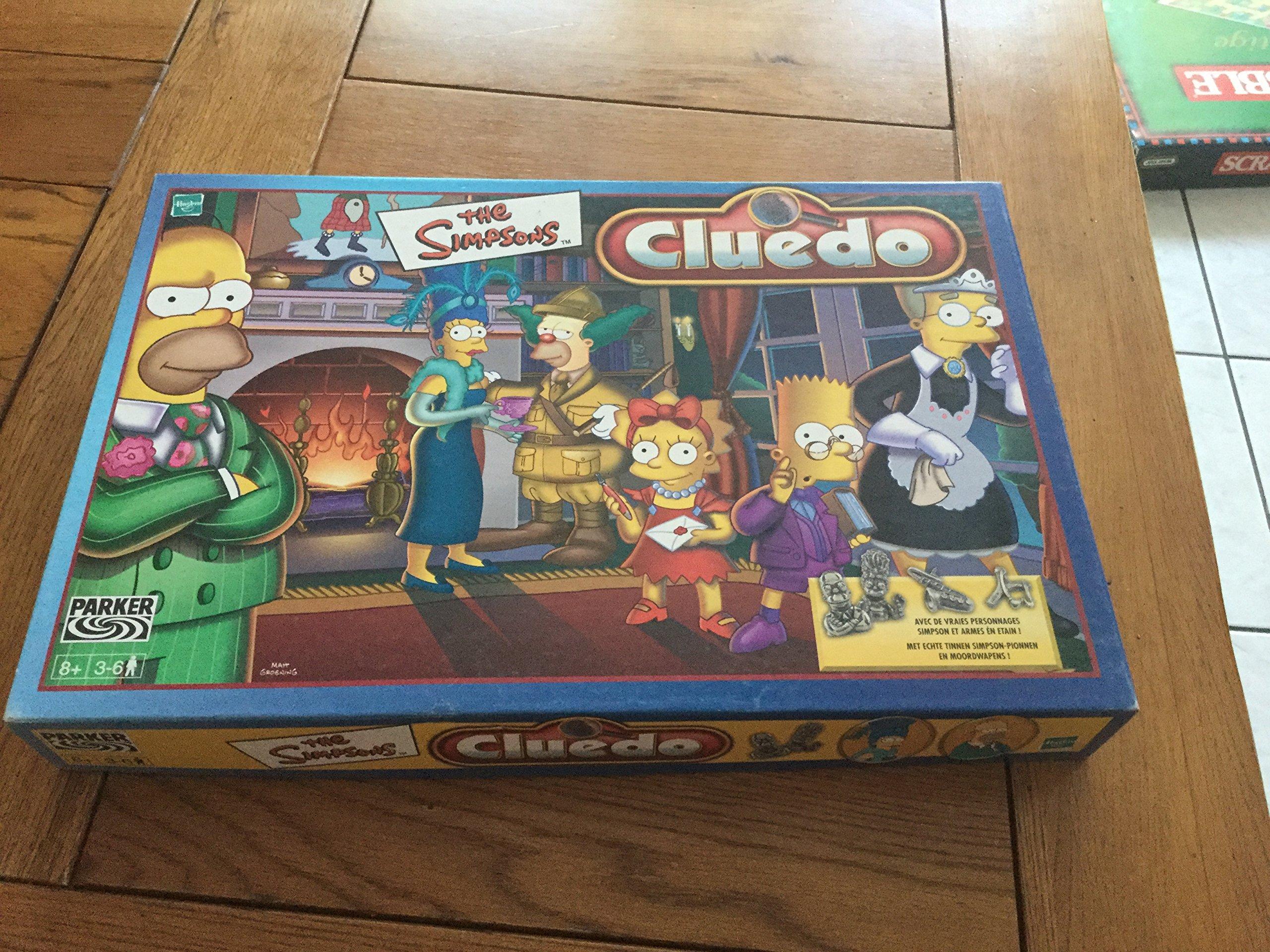 Hasbro – 419421970 – Cluedo – Juego de Tablero – Juego de Bandeja reflexión – Cluedo Simpsons: Amazon.es: Juguetes y juegos